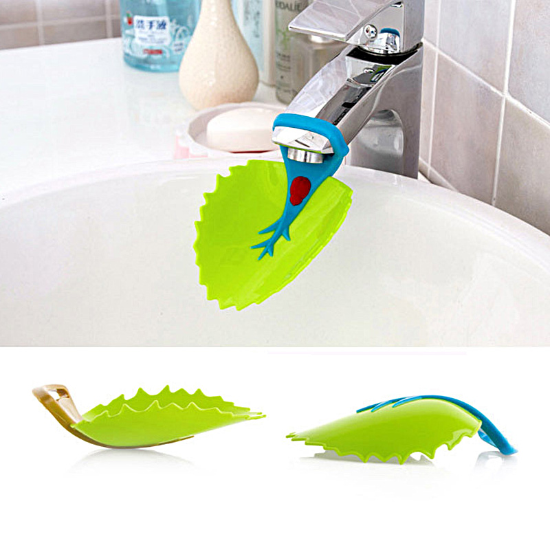 High Quality Cute toddler water Faucet Chute Extender Green Bathroom kitchen Sink for Care children kids