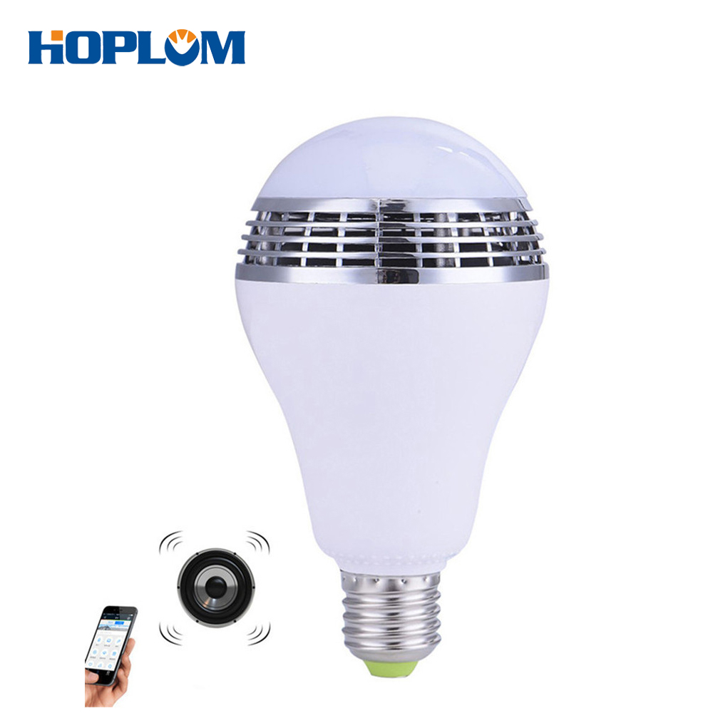 Dimmable E27 RGB LED Music Bulb Bluetooth Lighting Lamp Color Adjustable Speaker Music Lights Bulb Timer With APP Control