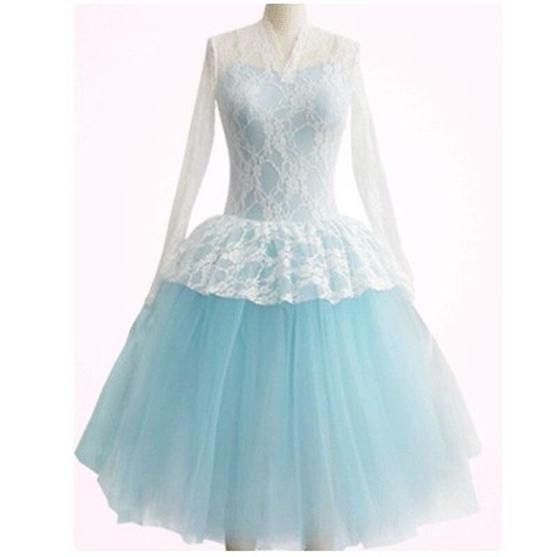 Robe de Ballet en dentelle sur mesure en gros couleur bleu ou violet corsage et jupe en Tulle, adulte ou enfants Tutus justaucorps HB355