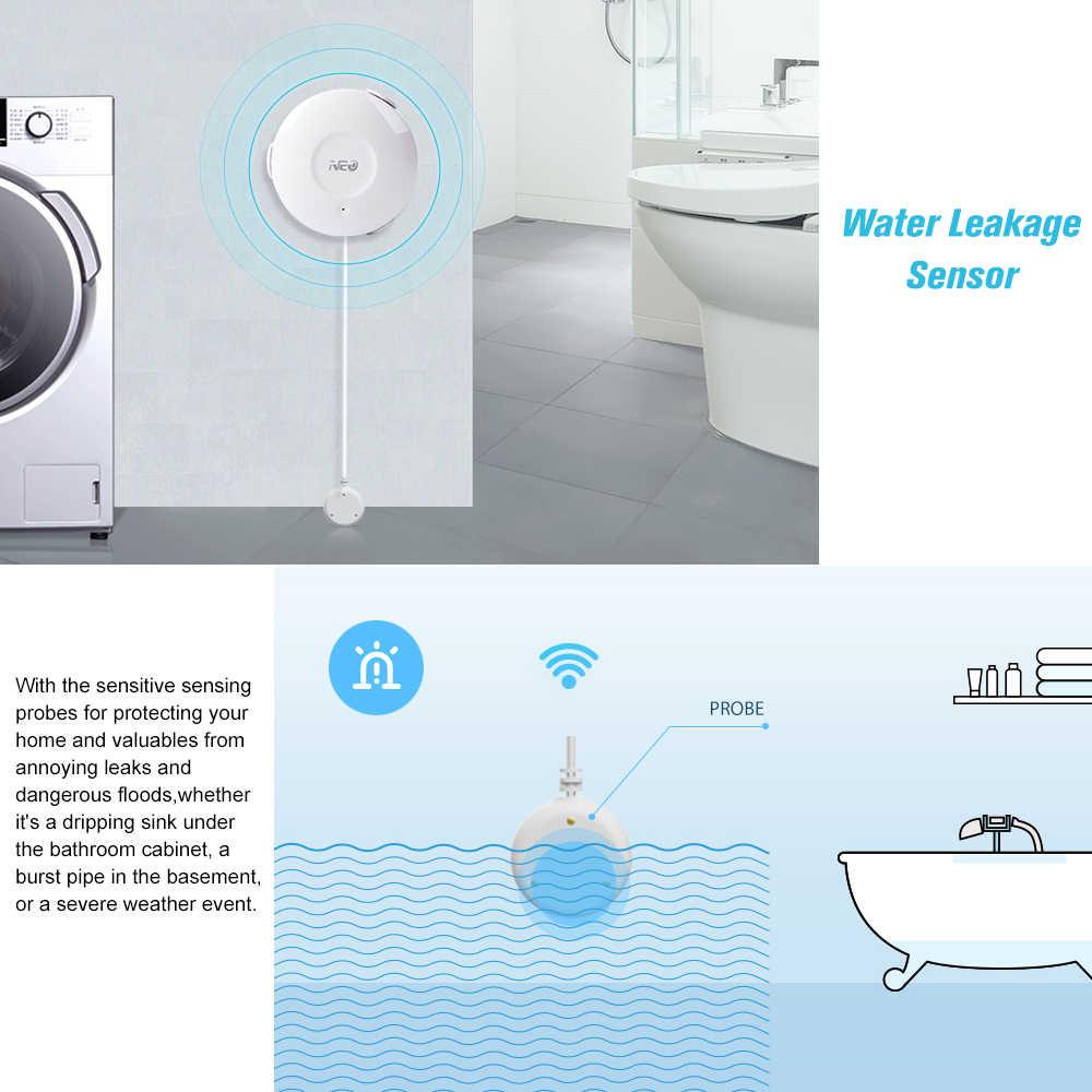 ネオスマート無線 Lan 水洪水センサー Wifi 漏水検出器アプリ通知アラート水センサーアラーム漏れ警報ホーム Securit