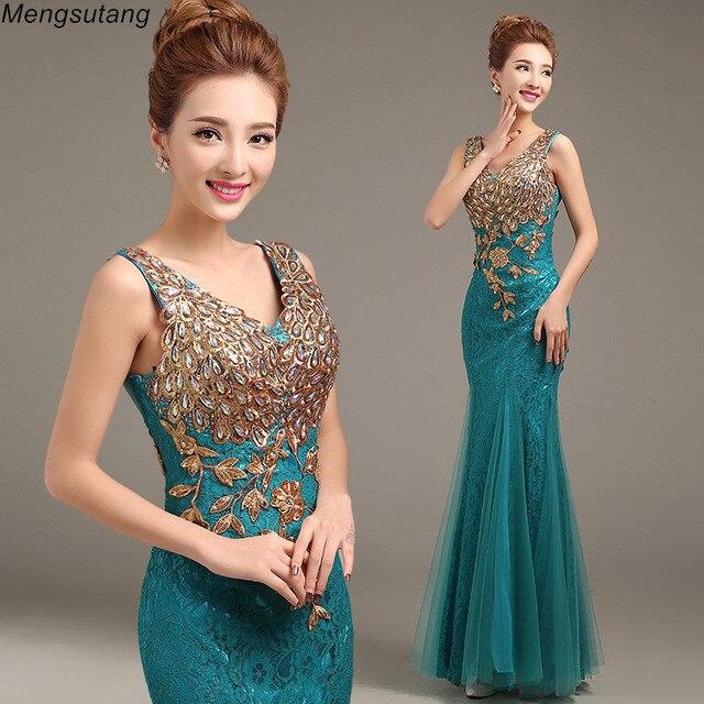 Robe de soiree 2020 V צוואר חרוזים ארוך עם אפליקציות שמלות בת ים ערב שמלות vestido דה festa שמלות נשף מפלגת שמלות