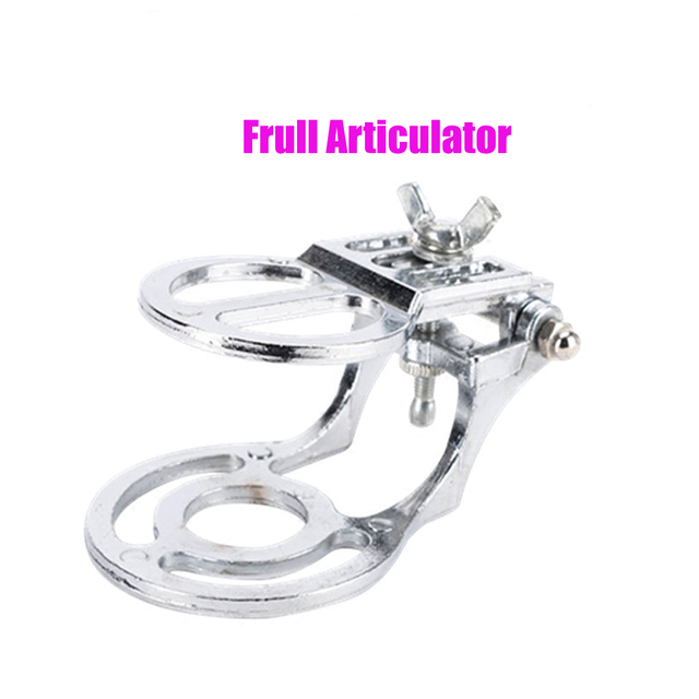 1 PC Dental lab zinc alloy full mouth articulator metal articulator for dental lab stone model work good quality silver color
