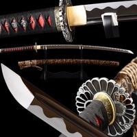 SHI JIAN Cutting Sharp Japanese Samurai Katana Sword Full Tang Bo hi 1095 Carbon Steel Blade Espada Katana Samurai Cosplay Sword