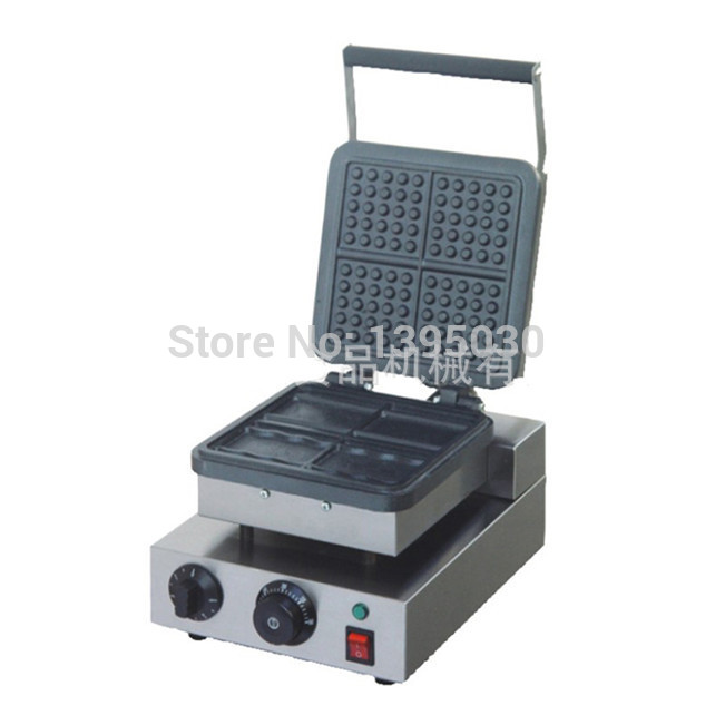 1PC FY-219 Electric Waffle Maker Mould Plaid Cake Furnace Sconced Heating Machine Square Waffle Oven sunflower shaped cake maker diy mould tray grey