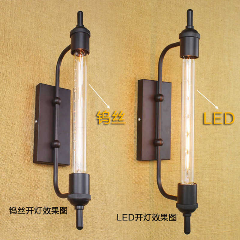 Винтажный паропровод Ретро черная металлическая настенная лампа для подсветка на стену в ванную/крыльцо свет/ночник/осветительная арматура бра бар