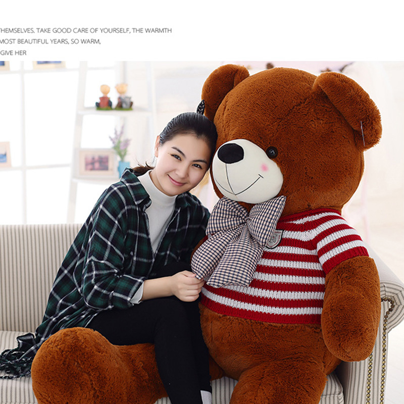 80cm Plush Toys Teddy Bear Stuffed Animal Doll Baby Toys Big Embrace Bear Doll Lovers Christmas Gifts Birthday Gift for Children 1pcs large size 120cm teddy bear plush toys bear 4 colors high quality kisd toys bear doll lovers christmas gifts birthday gift