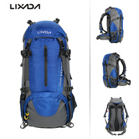 Lixada 50L Outdoor Bags Hiking Camping Travel Backpack Mountaineering Climbing Backpacking Trekking Bag Knapsack With Rain Cover