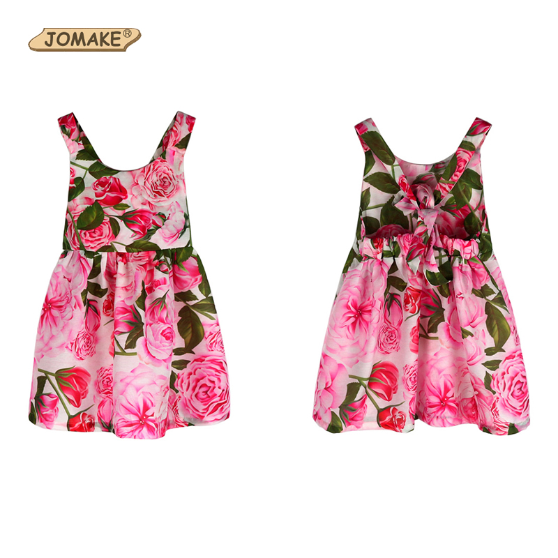 544aba7764fdb JOMAKE Girls Summer Dress 2018 New Style Bow Backless Kids Dresses For  Girls Baby Princess Dress Beach Costume Children Clothes