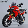 Hotsales escala 1:12 ducati 1200 s motocicleta modelos diecast liga motocicleta de corrida modelo toys presente branco/vermelho para a coleção