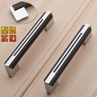 Solid Body High end Modern Minimalist Black Kitchen Cabinet Handle Cabinet Drawer Furniture Handle Wardrobe Door Handle
