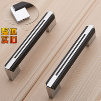 Solid Body High end Modern Minimalist Black Kitchen Cabinet Handle Cabinet Drawer Furniture Handle Wardrobe Door Handle