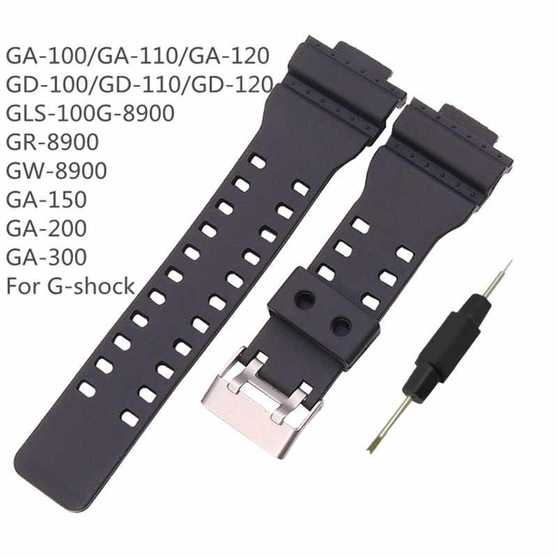 Correa deportiva de goma YUEDAER para correa de reloj inteligente G Shock para hombre pulsera deportiva de 16 MM para casio GA 100110120 GD 100