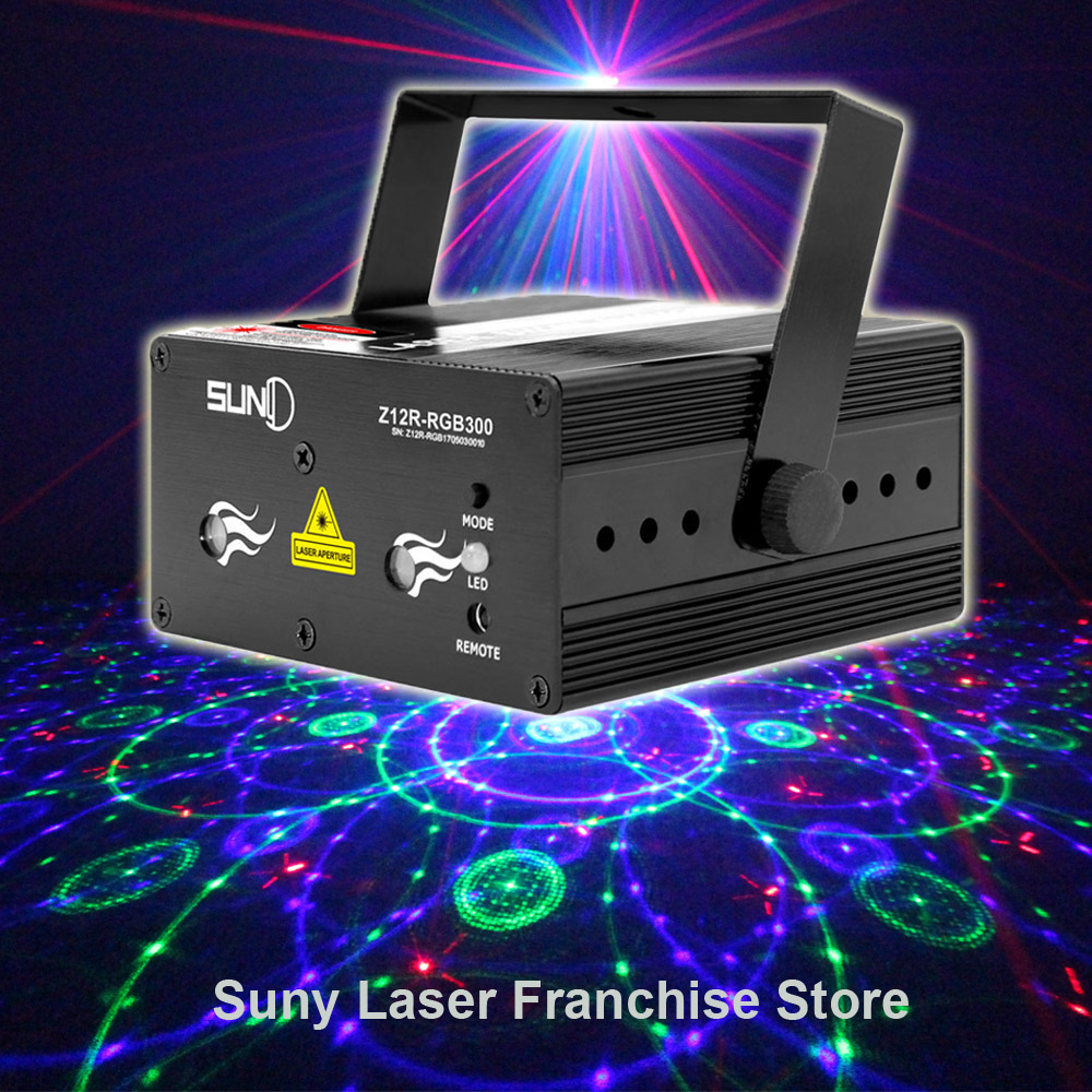 SUNY New Full Color RGB Stage Light Red Green Blue Laser Lighting Funny Projector illumination Decoration DJ Disco Z12R-RGB300
