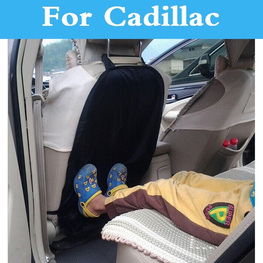 Anti Kicking Padded Child Car Seat Back Protection For Cadillac Xlr Xts Ats Ats-V Bls Ct6 Cts Cts-V De Ville Dts Elr Srx Sts