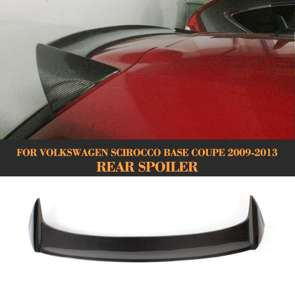 carbon fiber rear roof wingow boot lip wing spoiler for Volkswagen VW Scirocco Standard Only 08-13 Non R OSIR Style car styling carbon fiber auto rear wing spoiler lip for vw scirocco 2010 2012