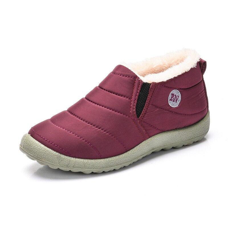 8b2e7ac35 XEK invierno de felpa hombres mujeres botas de nieve mantener las zapatillas  de deporte calientes hombres cómodos zapatillas de correr caminar al aire  libre ...