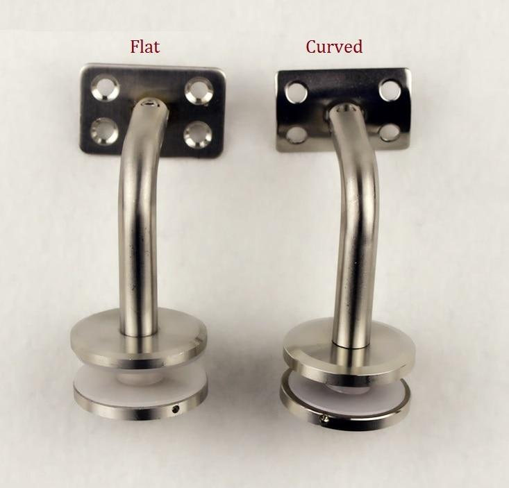все цены на 2PCS/LOT 60*60mm 304# Stainless Steel Handrail Bracket Brackets for Glass Wall Mounted Adjustable онлайн