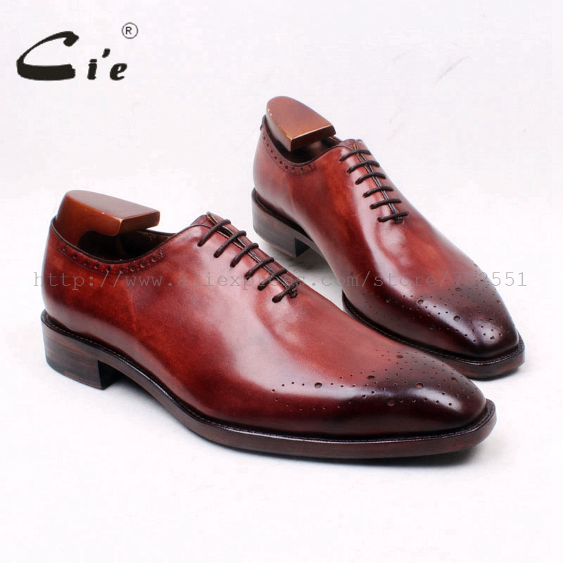 cie Square Toe Whole Cut Patina Brown Lace-Up100%Genuine Calf Leather Bottom Outsole Breathable Men's Dress Shoe Oxfords OX663 купить часы haas lt cie mfh211 zsa