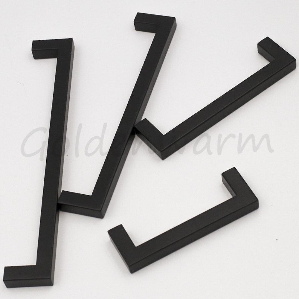 Zwarte Kast Handgrepen Rvs Lade Trekt Goldenwarm 12mm