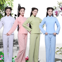 Women Chinese Hanfu Costume Traditional Tang Clothing Ancient National Pajamas Han Dynasty Clothing Tops +Pants Outfit 89