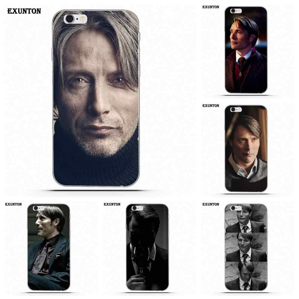 Soft Phone Cases Covers Hannibal Mads Mikkelsen For Apple iPhone 4 4S 5 5C SE 6 6S 7 8 Plus X