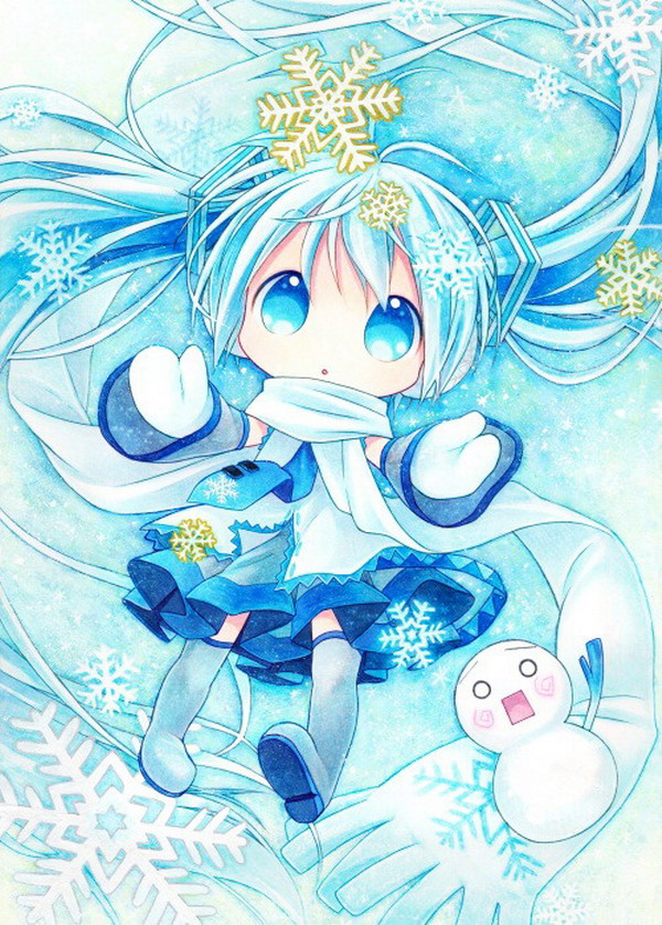 VOCALOID2 Anime Snow Miku 150 200CM Single layer Blanket 39503