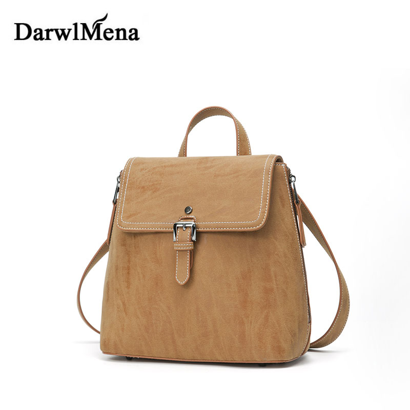 ФОТО 2017 New Wild Women Bag Backpacks High Quality Leather Fashion Retro Small Square Bag Tote Back Pack Alloy Buckle Feminina