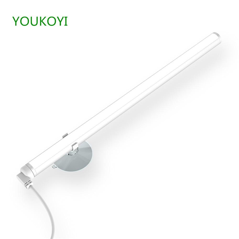 USB зарядка Портативный составляют зеркало светодиодный свет затемнения сенсорный выключатель <font><b>Vanity</b></font> Ванная комната нержавеющей освещения ко&#8230;