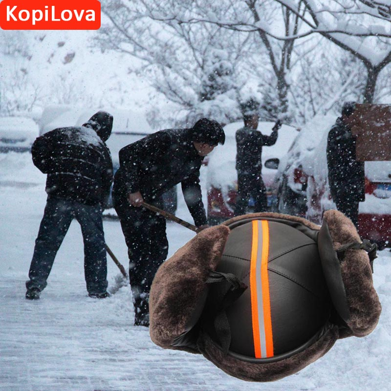 Kopilova Winter Outdoor Cold-proof Safety Helmet Anti-smash Anti-wind Adult Work Protective Hard Hat Cap with Reflective Strip lady s skullies womail delicate pregnant mothers soft velvet cap maternal prevention wind hat w7