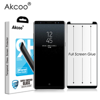 Akcoo Note 8 Screen Protector Case Friendly Glass Film For Samsung Galaxy Note8 Full Glue Tempered