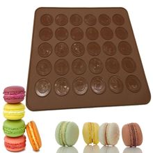 30-Cavity Silicone Macaron Mat DIY Baking Mats Cake Pastry Oven Mold Sheet Bakeware Tools Kitchen