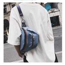 1d124b5733dea Engyee Canvas Belt Pocket Travel Organizer Women Designer Waist Pack  Shoulder Chest Bag Denim Bags Small