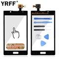 + + + Качество Для LG Optimus L7 P700 P705 Touch Panel сенсорный Экран Планшета Передняя Стеклянная Панель Частей Логотип + Клей Бесплатный доставка