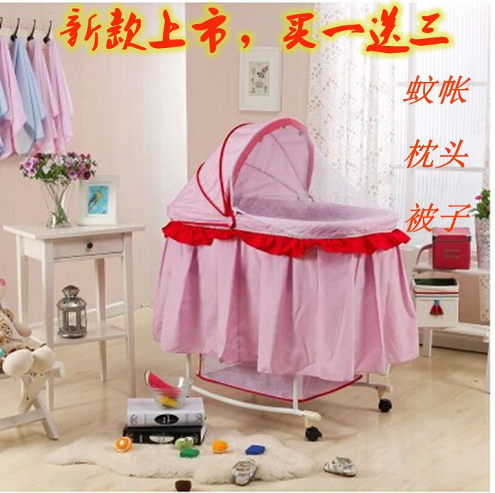 Baby Bed Concentretor Baby Cradle Bed Band Mosquito Net Newborn Little Sleeping Basket Multifunctional Bb Bed Crib electric baby crib baby cradle with mosquito nets multifunctional music baby cradle bed