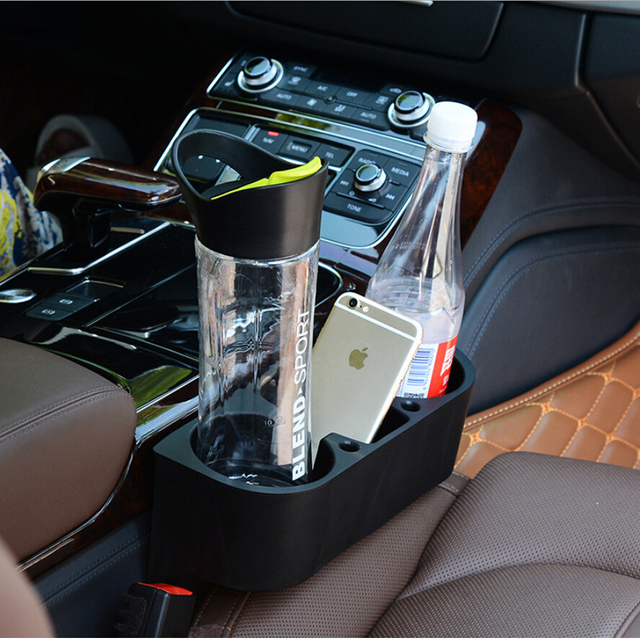 La más nueva manera Multifunción Portátil vehículo Asiento Vacío taza Portavasos Del Coche sostenedor del teléfono celular Caja de Almacenamiento de accesorios de Automóviles