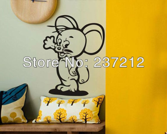 Free Shipping Home Decor cute Mickey Mouse Decorative Wall Sticker60*75CM