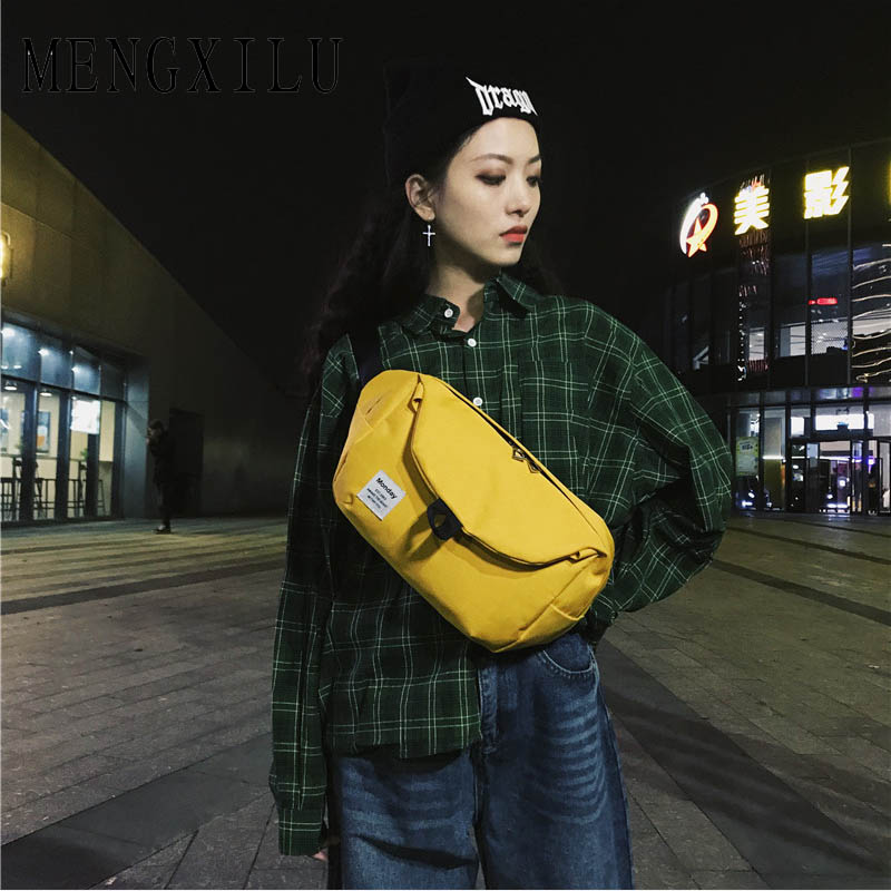 Unisex Boys Girls Oxford Waist Bags Zipper Crossbody Bag Casual Accessories Bags For Women 2018 Sac A Main Ladies Fanny Bag New