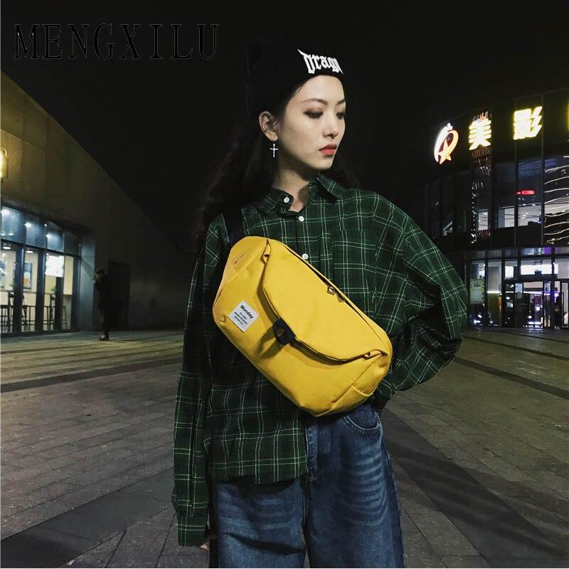 Unisexe garçons filles Oxford taille sacs Zipper Crossbody Sac décontracté accessoires sacs pour femmes 2018 Sac A Main dames Fanny Sac nouveau