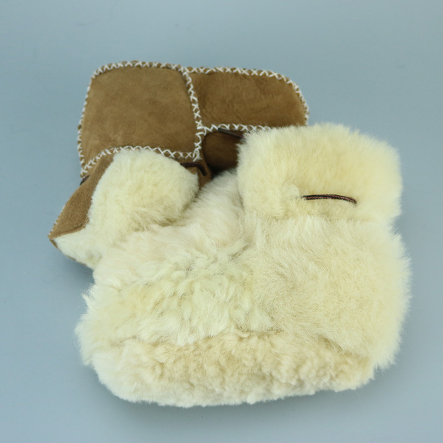 Winter Genuine Leather Baby Warm Shoes