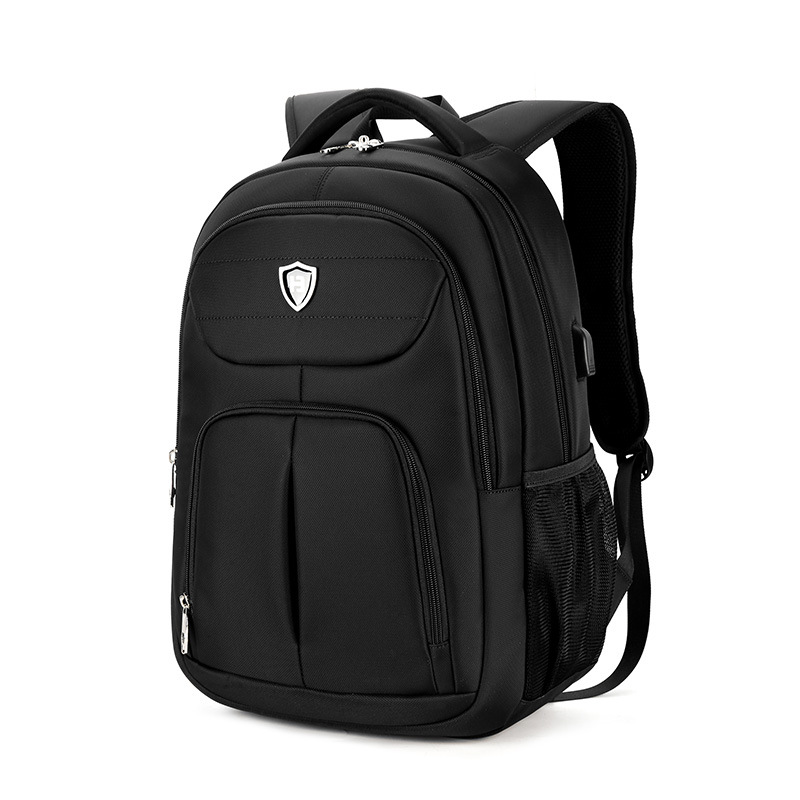 2017 Brand New Laptop usb Backpack Black Men Backpacks Large Capacity Multifunction Oxford School Bags Air Cushion Belt Rucksack psycho pass backpack black oxford men laptop bags 14inch bookbag for high school backpacks