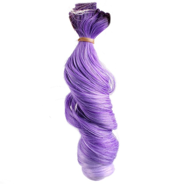 Wamami Dark Purple Hair Extension Piecediy Wavy Hair Curly Wig For