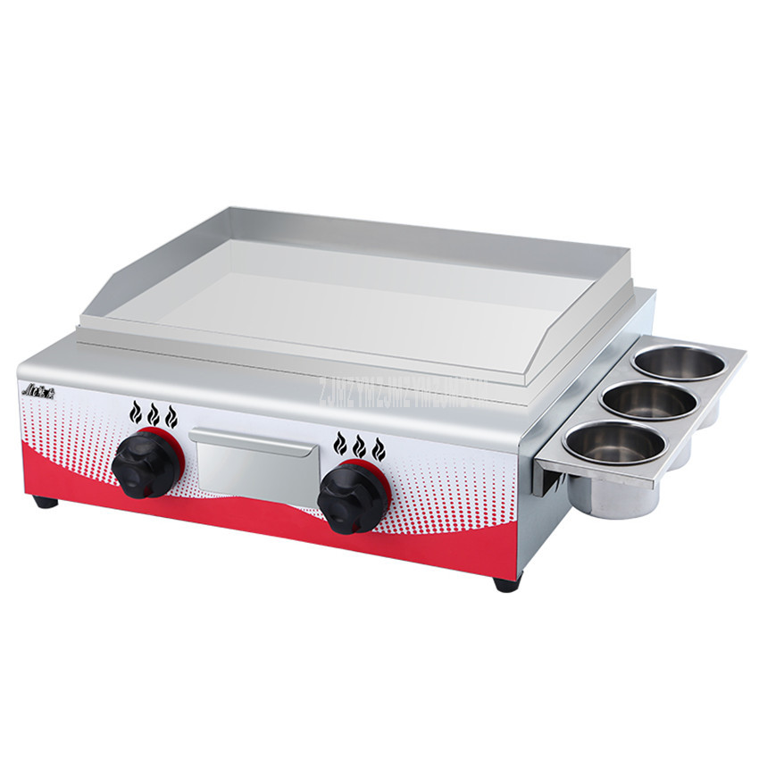 55*34cm Stainless Steel Commercial Gas Fuel Grill Bakeware Barbecue Dorayaki Teppanyaki Griddle Squid Iron Plate Baking Machine55*34cm Stainless Steel Commercial Gas Fuel Grill Bakeware Barbecue Dorayaki Teppanyaki Griddle Squid Iron Plate Baking Machine