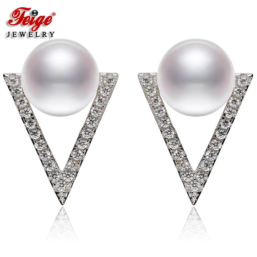 Класичні природні перлині сережки - Вишукані прикраси