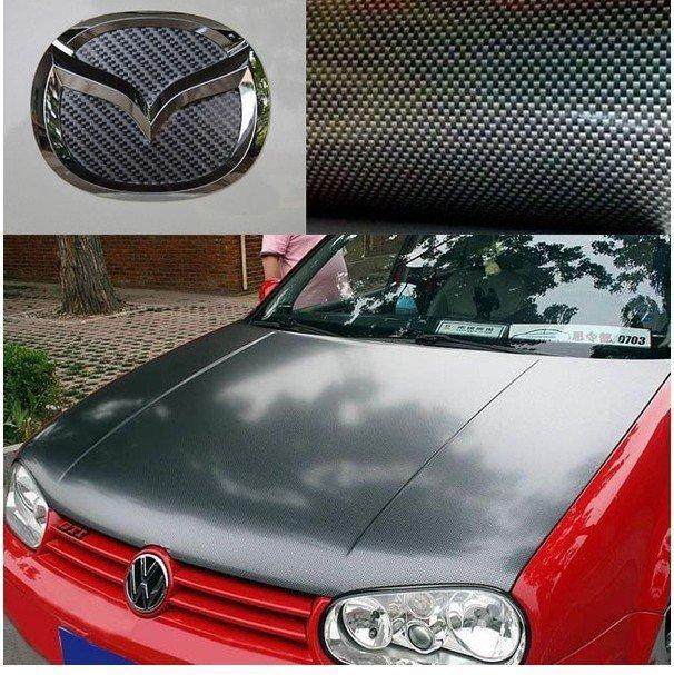 Free shipping, 3D 30cm x127cm Carbon Fibre sticker Vinyl Sheet Black car sticker for all car,wholesale
