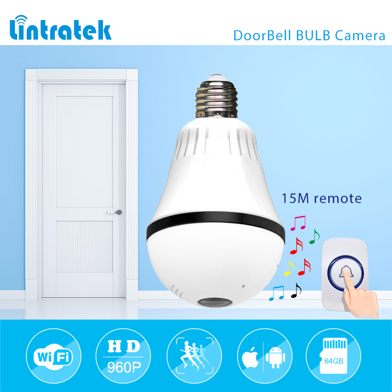 lintratek 960P 1.3mp 360 degree Bulb VR Panoramic Camera E27 LED Light Wireless Wifi Home Doorbell Security IP Camera mini #20lintratek 960P 1.3mp 360 degree Bulb VR Panoramic Camera E27 LED Light Wireless Wifi Home Doorbell Security IP Camera mini #20