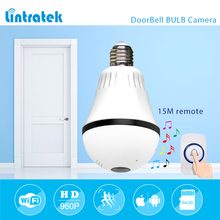 hot deal buy lintratek 960p 1.3mp 360 degree bulb vr panoramic camera e27 led light wireless wifi home doorbell security ip camera mini cctv