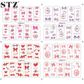1x New Women Girl Beauty Bow Butterfly Princess Nail Art Water Transfer Stickers Decals Polish Tools for Full Tips BOP284-287