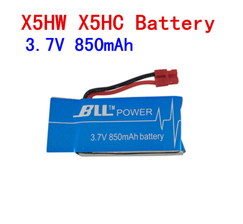 <font><b>3.7V</b></font> <font><b>850mAh</b></font> 25C <font><b>Lipo</b></font> <font><b>Battery</b></font> For Upgraded Syma X5HW X5HC RC Quadcopter Helicopters image