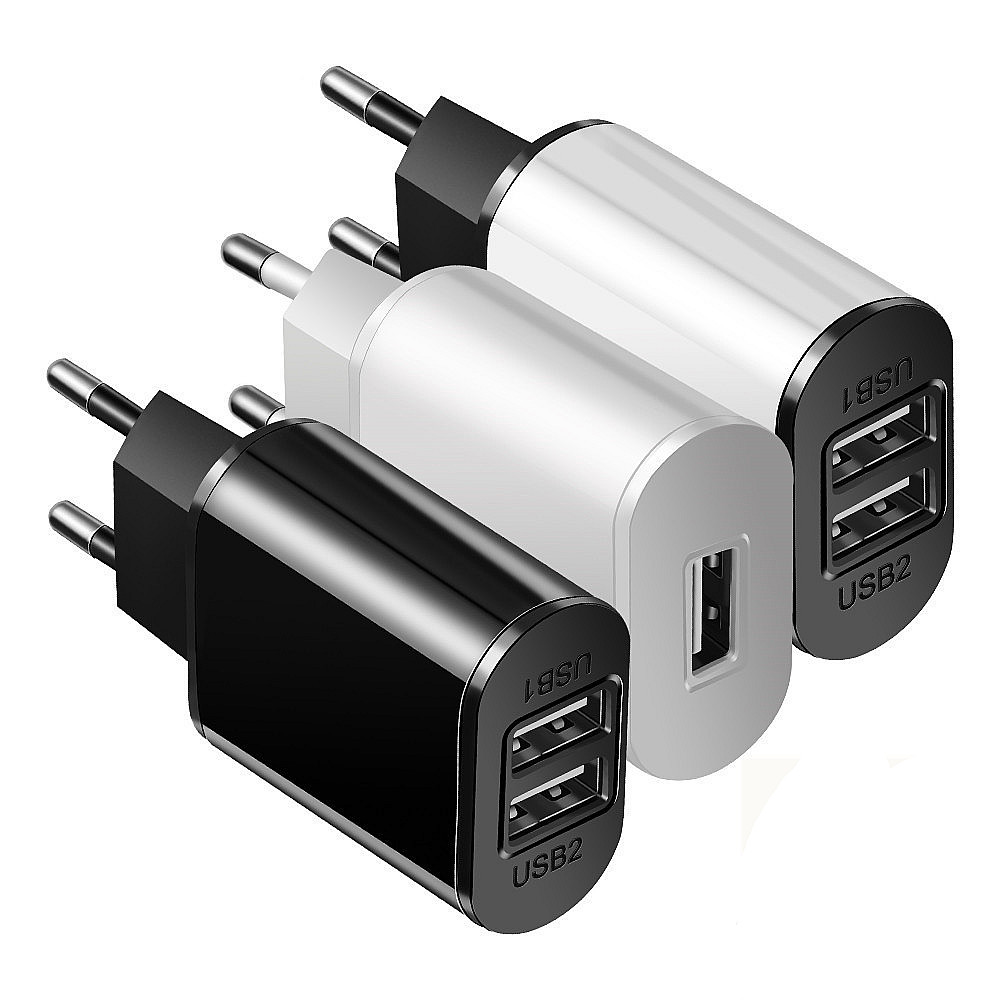 USB Charger Travel 5V2A Wall Adapter Mobile Phone Charger Charging For iPhone7 Xiaomi Samsung Huawei & Braided Micro USB Cable image