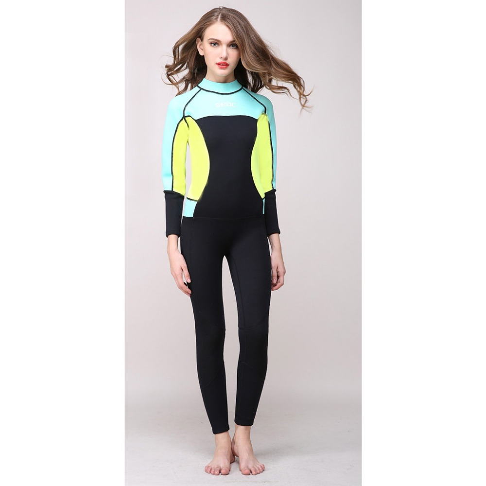 5a774a1e35 Hisea seac 3mm Neoprene Women one piece Wetsuit Premium Full body Wetsuits  Girls Diving Suits Scuba Surfing Sknorkeling-in Wetsuit from Sports ...